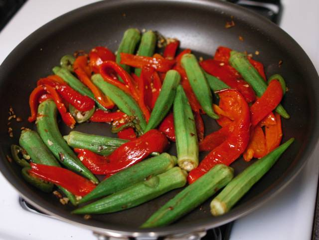 A recipe that uses boiled red pepper?