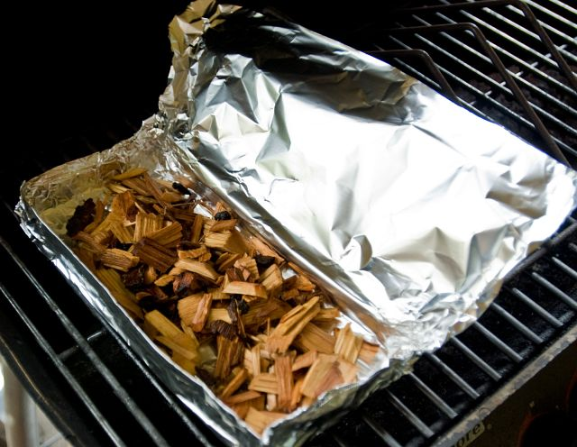 gas grill wood chips 2