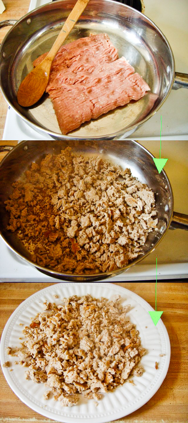 Start By Cooking The Ground Chicken Meat In A Medhigh Heatedpan With A  Little Olive Oil