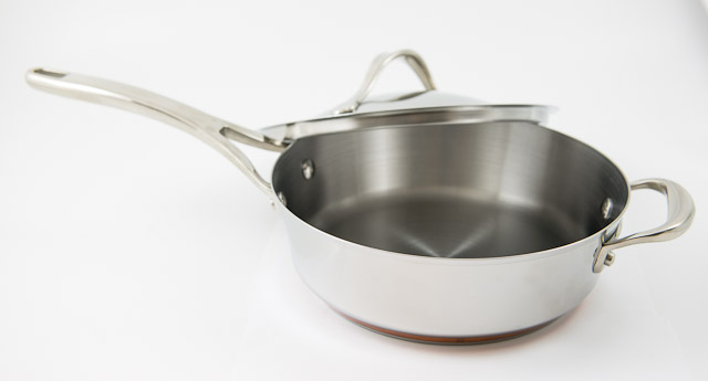 Anolon Nouvelle Copper Stainless Steel 3 Qt Covered Saute