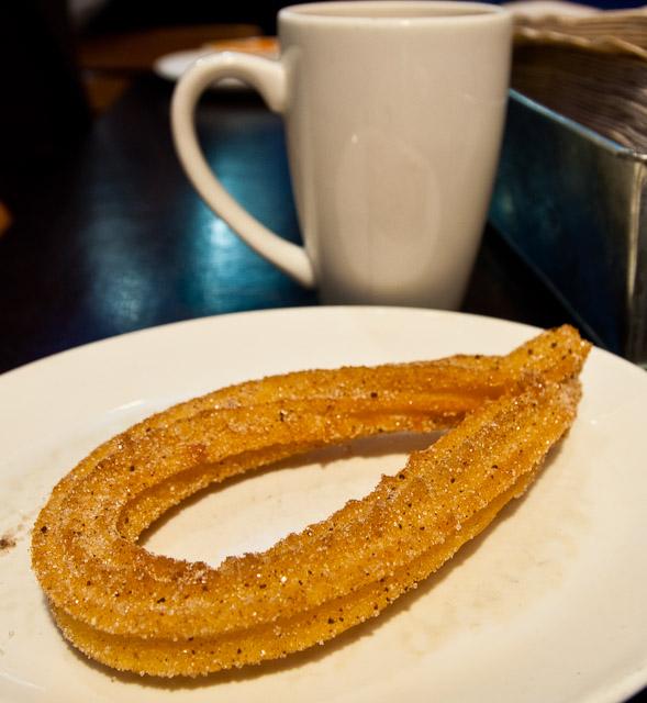 xoco churro for dessert we ordered a churro $ 1 50 which was fried ...